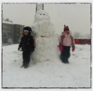 Il mio primo pupazzo di neve