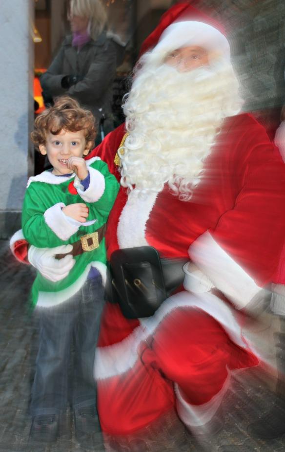 Pietro con Babbo Natale