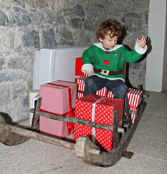 Sulla slitta di Babbo Natale