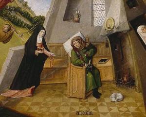 Jheronimus Bosch Table of the Mortal Sins Accidia