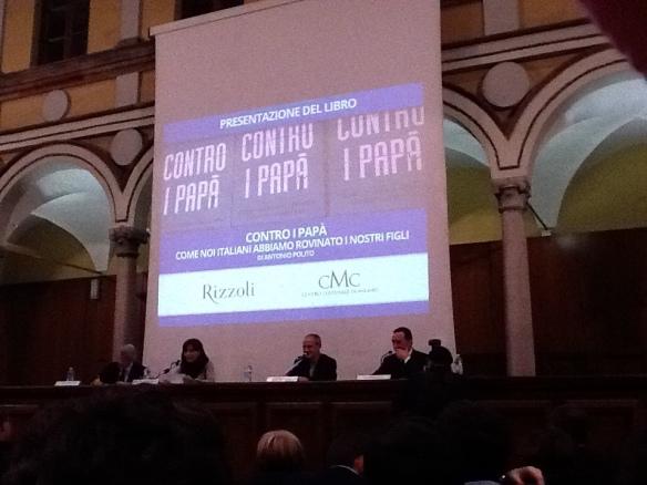 Presentazione libro Contro i papà di Antonio Polito Rizzoli editore al Centro Culturale di Milano