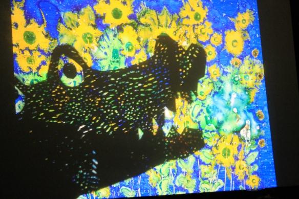 Un drago che ama i fiori